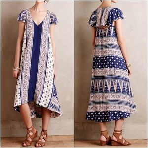 Anthropologie Maeve Summertide High-Low Maxi Dress